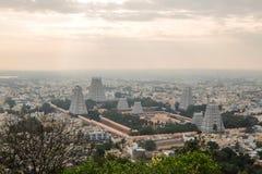 Vue de temple d'Annamalaiyar, Tiruvannamalai, Inde photographie stock libre de droits