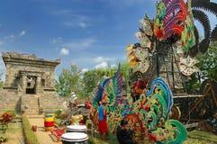 Vue de temple de Badut près de jardin Photographie stock
