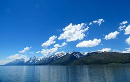 Vue de Teton chez Jackson Lake Photos stock