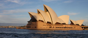 Vue de théatre de l'$opéra de Sydney Photos stock