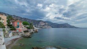 Vue de timelapse célèbre de Kerylos de villa, Beaulieu-sur-Mer, la Côte d'Azur, France banque de vidéos