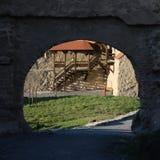 Vue de tireur isolé de citadelle de Rupea Photos stock