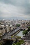 Vue de toit de Notre-Dame de Paris Photographie stock