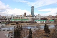 Vue de toit Ekaterinburg Image stock