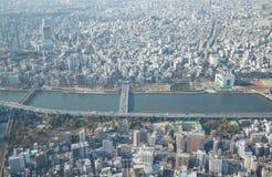 Vue de Tokyo de skytree de Tokyo à Tokyo Japon photo libre de droits