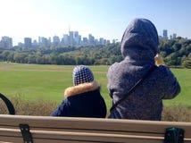 Vue de Toronto de parc de Riverdale photos libres de droits