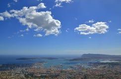 Vue de Toulon Image libre de droits