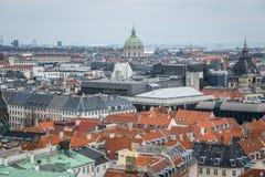 Vue de tour de château de Christiansborg Centre-ville de Copenhague denmark photos libres de droits