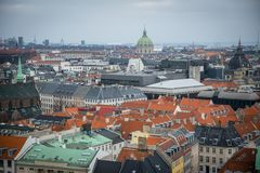 Vue de tour de château de Christiansborg Centre-ville de Copenhague denmark images libres de droits