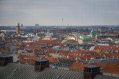 Vue de tour de Christiansborg copenhague denmark photos libres de droits