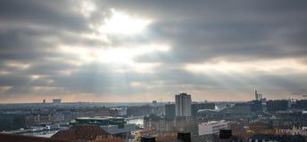 Vue de tour de Christiansborg denmark photos stock
