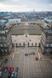 Vue de tour de Christiansborg Voici le ridinglane des vieux jours denmark photographie stock