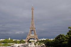 Vue de tour d'Eiffel de Tracadero Image libre de droits