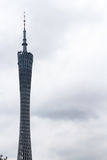 Vue de tour de canton de Guangzhou dans le jour obscurci Photos libres de droits