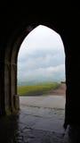 Vue de tour de massif de roche de Glastonbury Photo stock