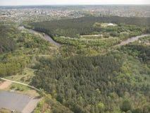 Vue de tour de Vilnius TV (Lithuanie) Image libre de droits