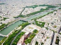 Vue de Tour Eiffel Images stock