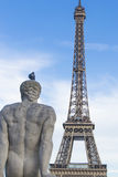 Vue de Tour Eiffel de Trocadero, ParÃs Images libres de droits