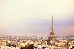 Vue de Tour Eiffel et de Paris Photos stock