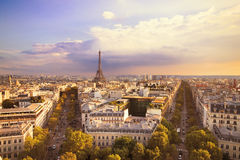 Vue de Tour Eiffel et de Paris Photographie stock libre de droits