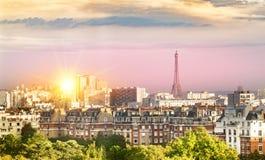 Vue de Tour Eiffel et de Paris Photos libres de droits