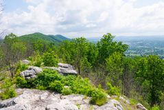 Vue de traînée de Cumberland de champ de courses Ridge de diables Image libre de droits