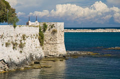Vue de Trani La Puglia l'Italie Photos libres de droits