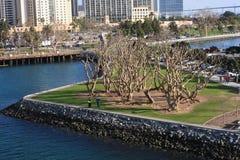 Vue de Tuna Harbor à San Diego Photos libres de droits