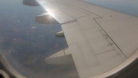 Vue de turbulence des avions banque de vidéos