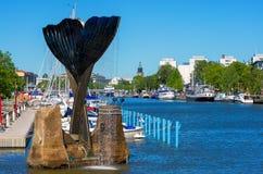 Vue de Turku. Finlande Photographie stock