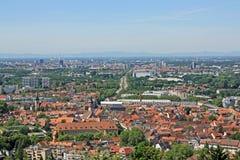vue de turmberg de Karlsruhe photographie stock libre de droits