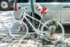 Vue de vélo de fantôme à New York Photos libres de droits