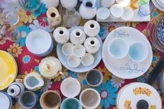 Vue de vaisselle plate Photo libre de droits