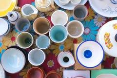 Vue de vaisselle plate Photos libres de droits
