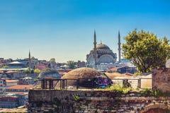 Vue de valide Han, mosquée de Nuruosmaniye images libres de droits