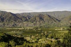 Vue de vallée d'Ojai des montagnes Photos libres de droits