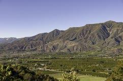 Vue de vallée d'Ojai des montagnes Photos stock