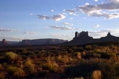 Vue de vallée de monument Photographie stock