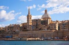 Vue de Valletta photos stock