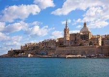 Vue de Valletta images stock