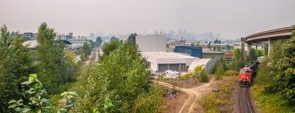 Vue de Vancouver du centre de la commande commerciale photo libre de droits