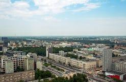 Vue de Varsovie Images libres de droits