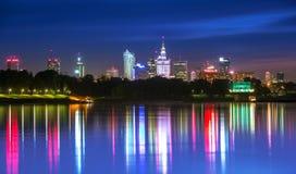 Vue de Varsovie du centre Photo stock