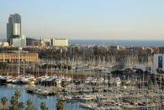 Vue de Vell gauche à Barcelone, Espagne Photographie stock