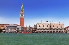Vue de Venise avec la place du ` s de St Mark et la lagune vénitienne Image libre de droits