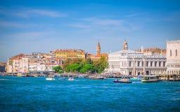 Vue de Venise de la mer, Vénétie, Italie Photo libre de droits