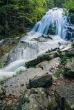 Vue de Veritcal d'hurler les cascades courues, Jefferson Nation Forest, la Virginie, Etats-Unis image libre de droits