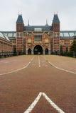 Vue de verticale d'entrée de Rijksmuseum Photos libres de droits
