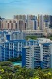 Vue de verticale de lotissement de Singapour Photo libre de droits