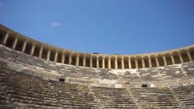 Vue de vieil amphithéâtre antique banque de vidéos